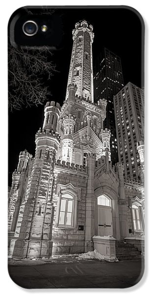 Tourism iPhone 5 Cases - Chicago Water Tower iPhone 5 Case by Adam Romanowicz