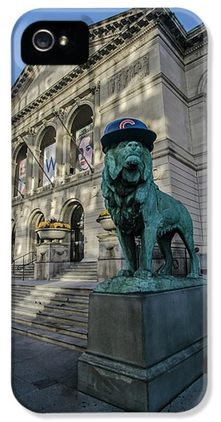 Chicago's Art Institute With Cubs Hat IPhone 5 Case