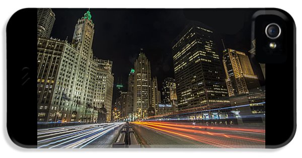 Chicago's Mag Mile Night Streaks IPhone 5 Case