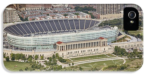 Chicago's Soldier Field Aerial IPhone 5 Case by Adam Romanowicz