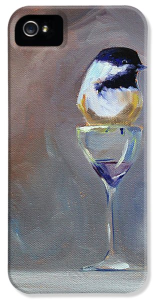 Chickadee Wine IPhone 5 Case by Nancy Merkle