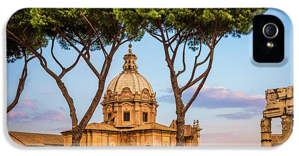The Pines Of Rome IPhone 5 Case by Inge Johnsson