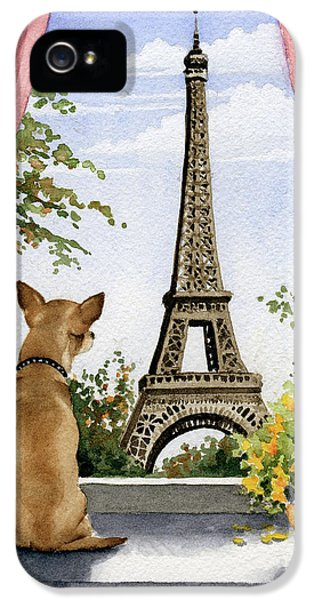 Paris iPhone 5 Case - Chihuahua In Paris by David Rogers