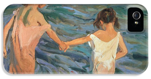 Children In The Sea IPhone 5 Case by Joaquin Sorolla y Bastida