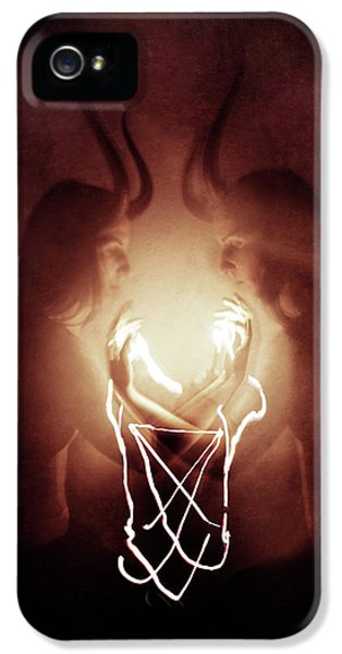 Magician iPhone 5 Case - Children Of Fire by Cambion Art
