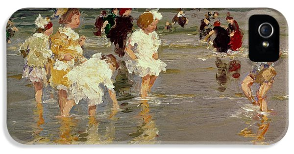 Impressionism iPhone 5 Case - Children On The Beach by Edward Henry Potthast