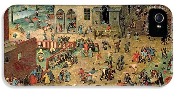 Children's Games IPhone 5 Case by Pieter the Elder Bruegel