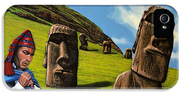 Chile Easter Island IPhone 5 Case by Paul Meijering