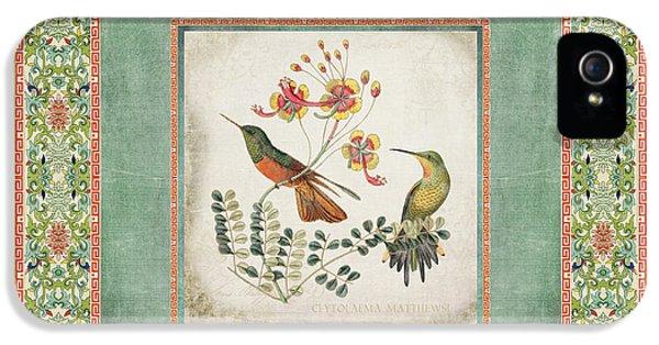 Chinoiserie Vintage Hummingbirds N Flowers 1 IPhone 5 Case