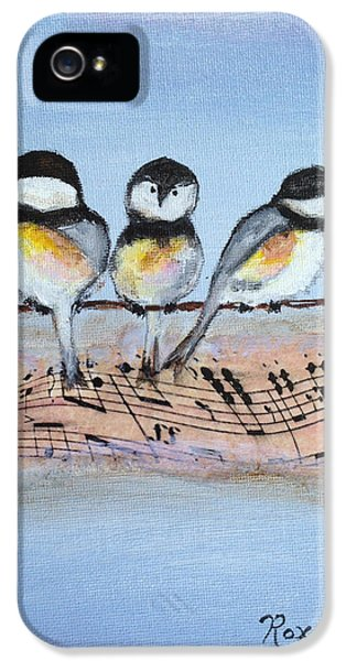 Chirpy Chickadees IPhone 5 Case by Roxy Rich