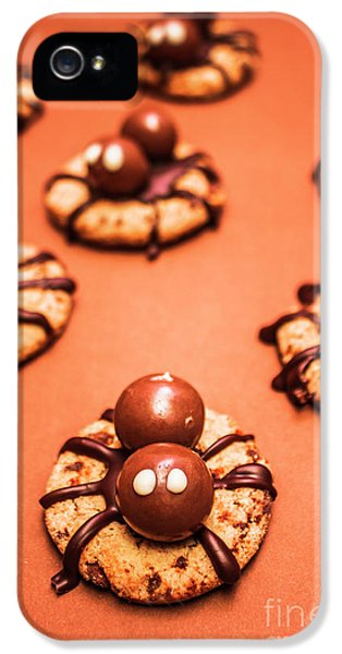 Chocolate Peanut Butter Spider Cookies IPhone 5 Case by Jorgo Photography - Wall Art Gallery