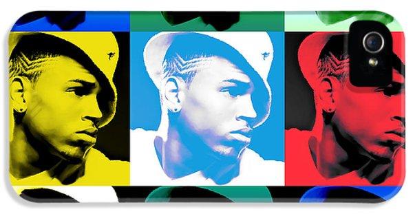 Nicki Minaj iPhone 5 Cases - CHris Brown Warhol by GBS iPhone 5 Case by Anibal Diaz