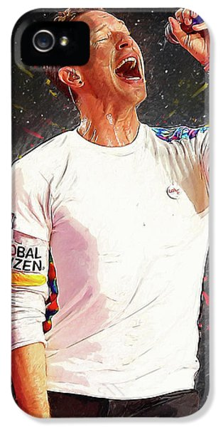 Chris Martin - Coldplay IPhone 5 Case by Semih Yurdabak