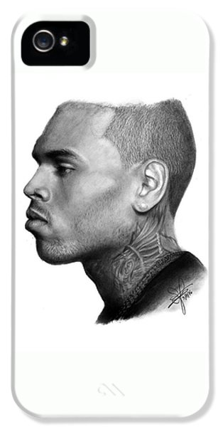 iPhone 5 Case - Chris Brown Drawing By Sofia Furniel by Jul V
