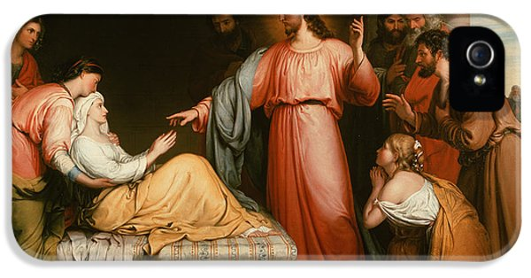 Christ Healing The Mother Of Simon Peter IPhone 5 Case by John Bridges