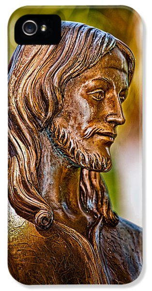 Ocular Perceptions iPhone 5 Cases - Christ in Bronze iPhone 5 Case by Christopher Holmes
