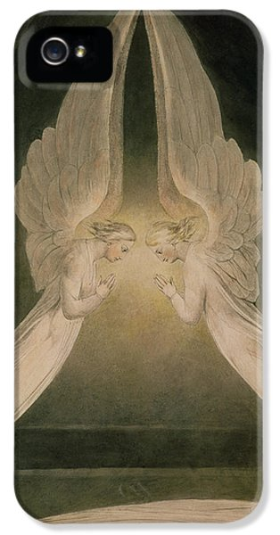 Christ In The Sepulchre Guarded By Angels IPhone 5 Case by William Blake