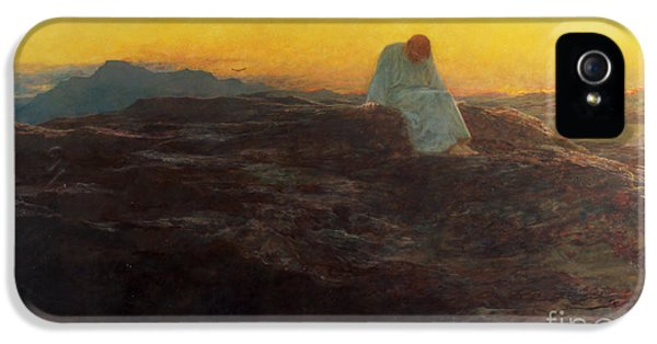 Christ In The Wilderness IPhone 5 / 5s Case by Briton Riviere