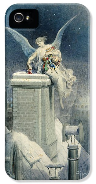 Christmas Eve IPhone 5 Case by Gustave Dore