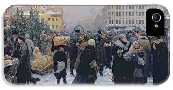 Christmas Fair  IPhone 5 Case by Heinrich Matvejevich Maniser
