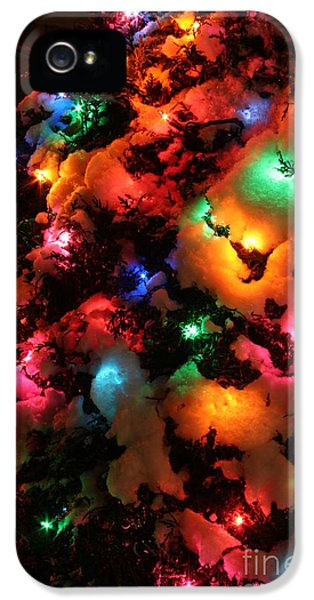Christmas Lights Coldplay IPhone 5 Case by Wayne Moran