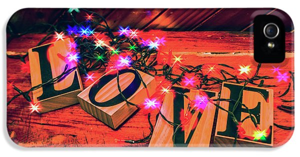 Christmas Love Decoration IPhone 5 Case by Jorgo Photography - Wall Art Gallery