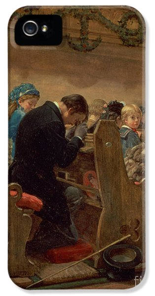 Christmas Prayers IPhone 5 Case by Henry Bacon
