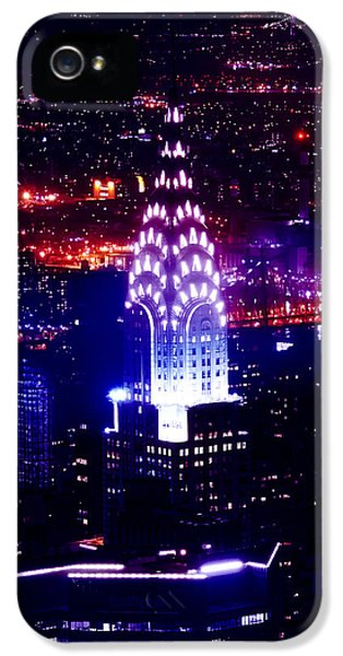 Chrysler Building At Night IPhone 5 Case by Az Jackson