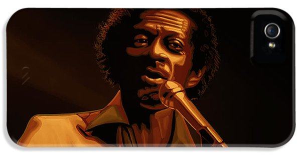 Chuck Berry Gold IPhone 5 Case by Paul Meijering