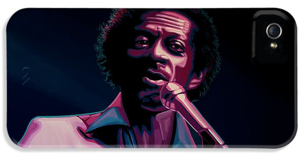 Rhythm And Blues iPhone 5 Case - Chuck Berry by Paul Meijering