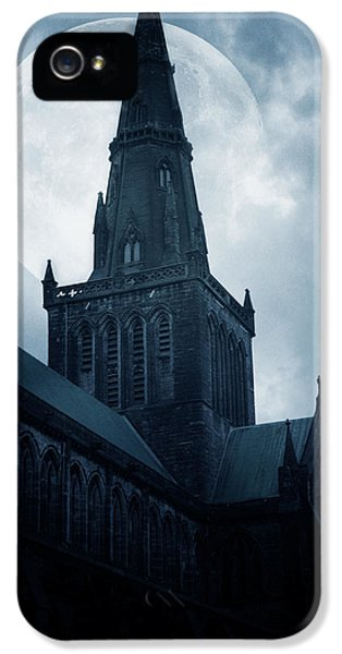 Moon iPhone 5 Case - Glasgow Cathedral by Cambion Art
