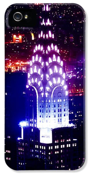 Chyrsler Lights IPhone 5 Case by Az Jackson