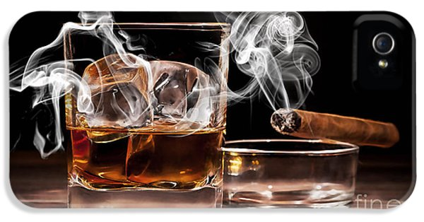 Cigar And Alcohol Collection IPhone 5 Case by Marvin Blaine