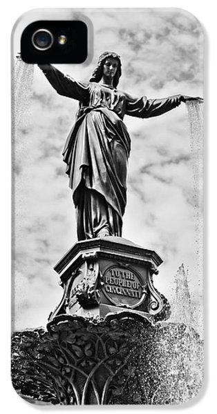 Cincinnati Fountain Tyler Davidson Genius Of Water Statue IPhone 5 Case