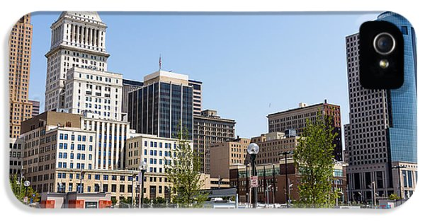 2012 iPhone 5 Cases - Cincinnati Ohio Downtown City Buildings iPhone 5 Case by Paul Velgos