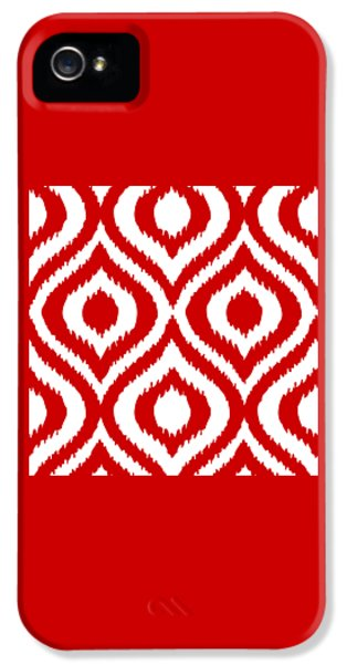 Circle And Oval Ikat In White T02-p0100 IPhone 5 / 5s Case by Custom Home Fashions