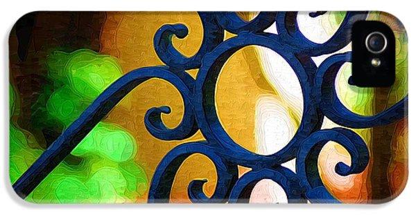 Circle Design On Iron Gate IPhone 5 Case