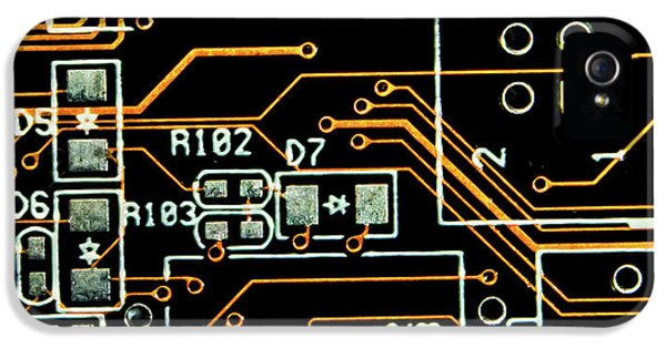 Circuit Board IPhone 5 Case by Martin Newman