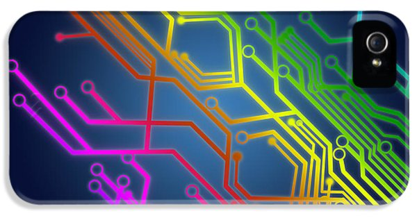 Circuit Board IPhone 5 Case by Setsiri Silapasuwanchai