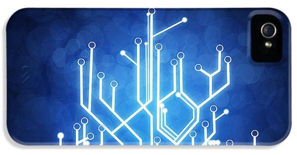 Abstract iPhone 5 Case - Circuit Board Technology by Setsiri Silapasuwanchai