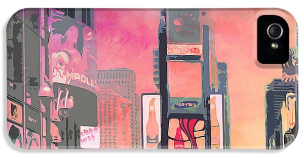 City-art Ny Times Square IPhone 5 Case by Melanie Viola