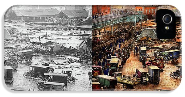 City - Boston Ma - The Great Molasses Flood 1919  - Side By Side IPhone 5 Case