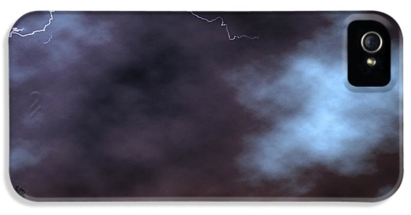 IPhone 5 Case featuring the photograph City Lights Night Strike by James BO Insogna