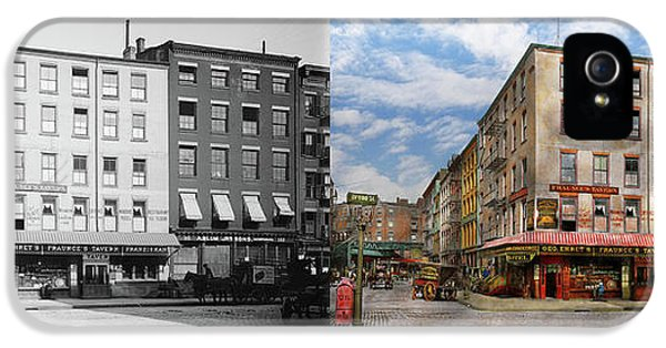 City - New York Ny - Fraunce's Tavern 1890 - Side By Side IPhone 5 Case