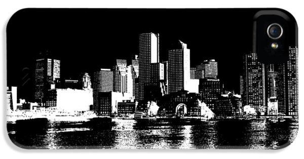 City Of Boston Skyline   IPhone 5 Case by Enki Art