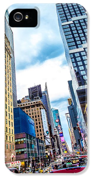 Times Square iPhone 5 Case - City Sights Nyc by Az Jackson