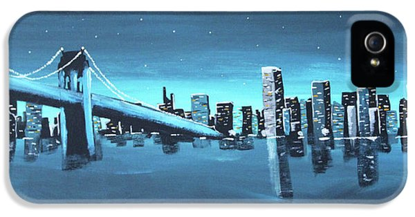 City Skyline IPhone 5 Case by Cyrionna The Cyerial Artist