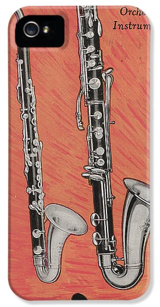 Clarinet And Giant Boehm Bass IPhone 5 Case