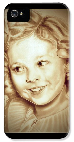 Classic Shirley Temple IPhone 5 Case by Fred Larucci