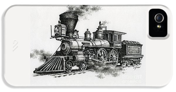 Train iPhone 5 Case - Classic Steam by James Williamson